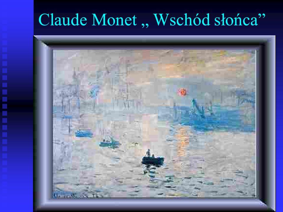 Claude Monet Wschód słońca
