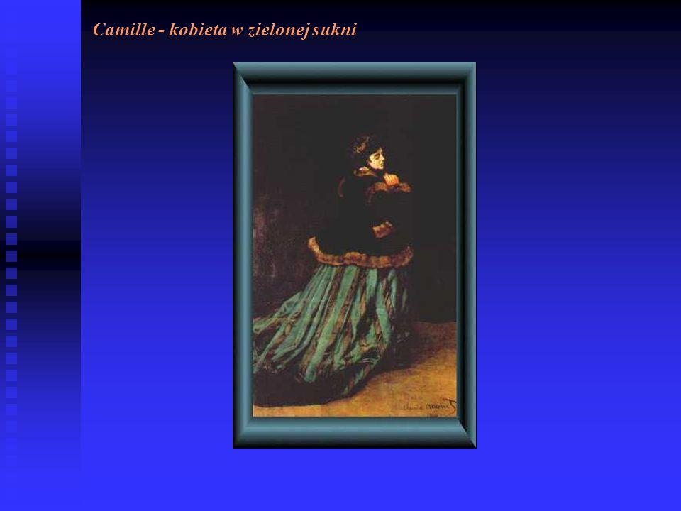 Camille - kobieta w zielonej sukni