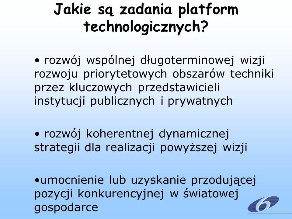 Jakie są zadania platform technologicznych.