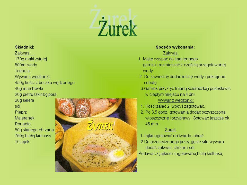Składniki: Sposób wykonania: 2 puszki tuńczyka Sos: 1 puszka fasolki szparagowej1.Z oliwy, soku z cytryny, musztardy, zieleniny 6 jajek i przypraw przygotować sos 6 ziemniakówSałatka z tuńczykiem: 1 czerwona papryka1.Jajka ugotować na twardo, obrać.