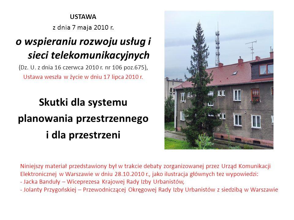 Zmiany w ustawie z dnia 27 marca 2003 r.o planowaniu i zagospodarowaniu przestrzennym (Dz.