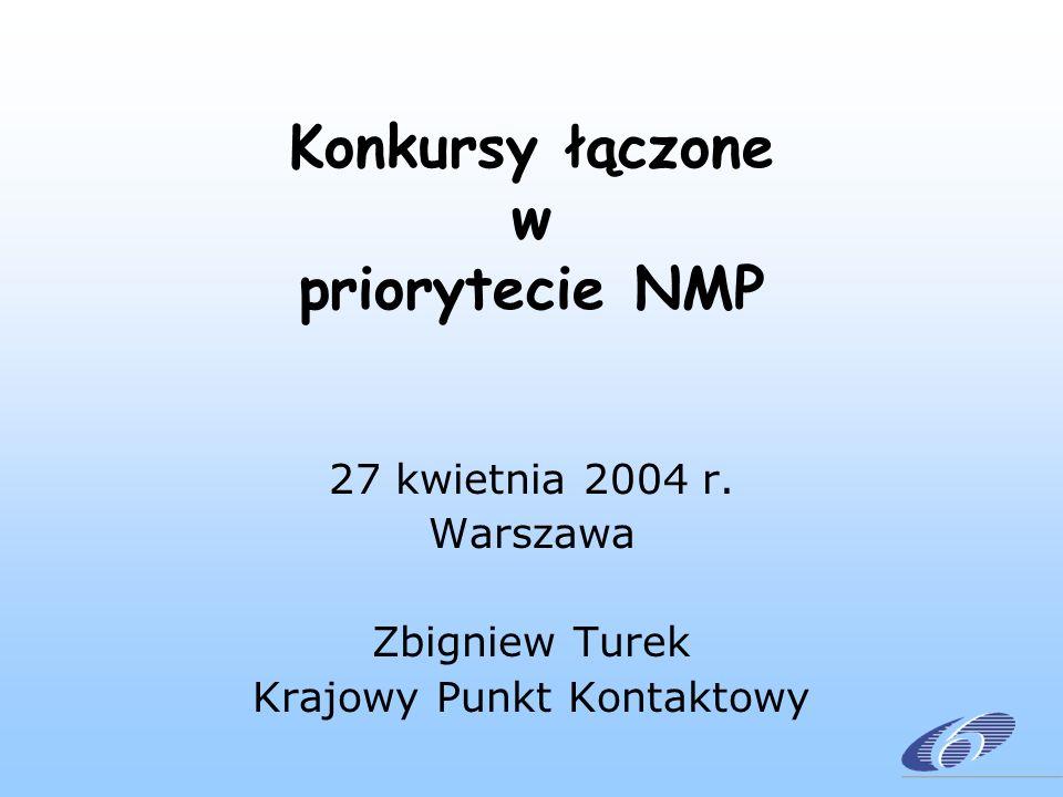 Konkursy łączone w priorytecie NMP 27 kwietnia 2004 r.