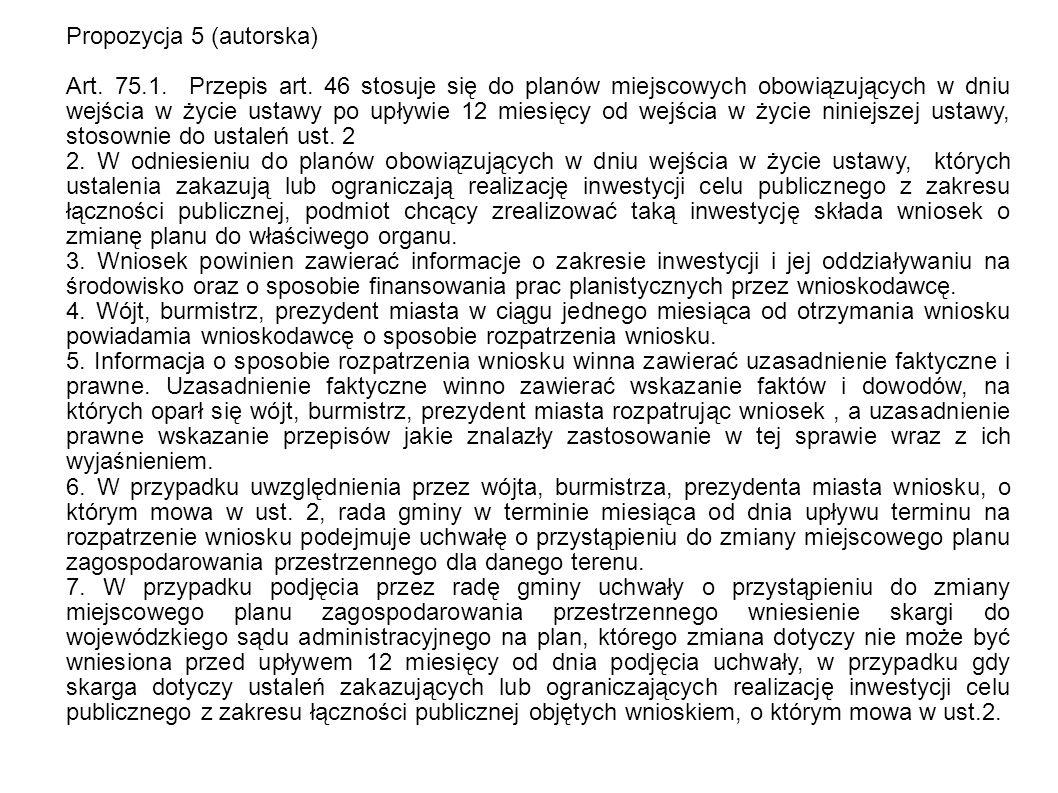 Propozycja 5 (autorska) Art. 75.1. Przepis art.