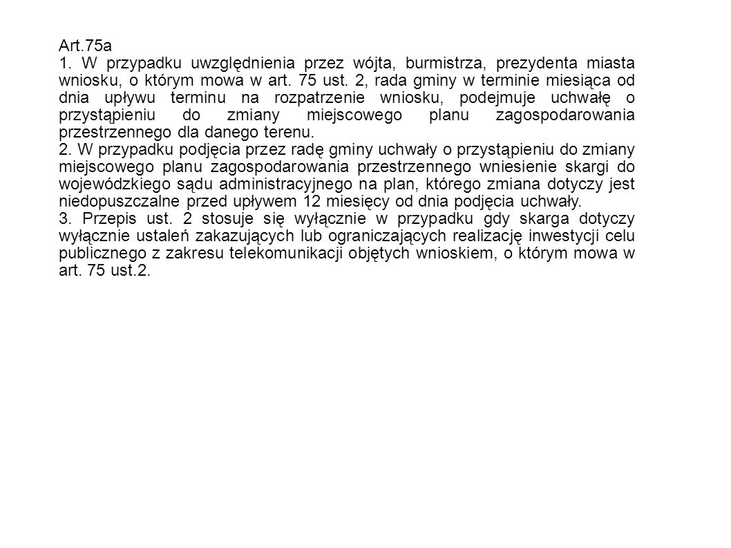 Art.75a 1.