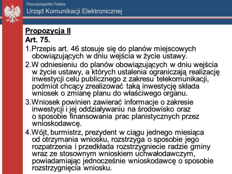 Propozycja II Art. 75. 1.Przepis art.
