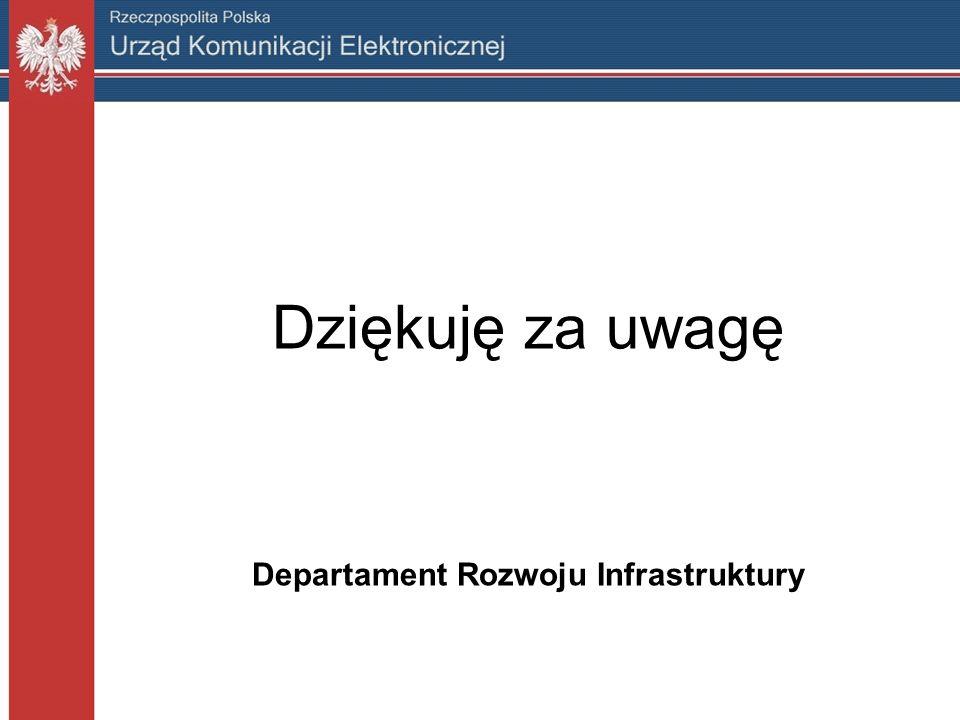 Dziękuję za uwagę Departament Rozwoju Infrastruktury