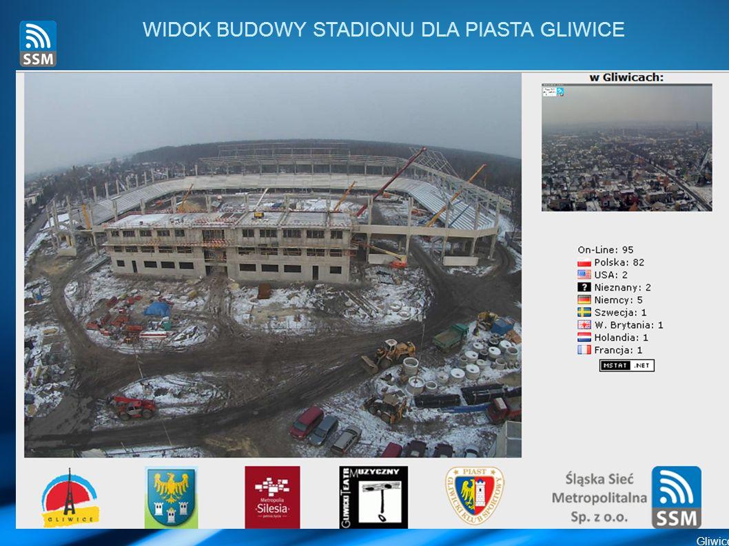 WIDOK BUDOWY STADIONU DLA PIASTA GLIWICE Gliwice 10 marca 2011