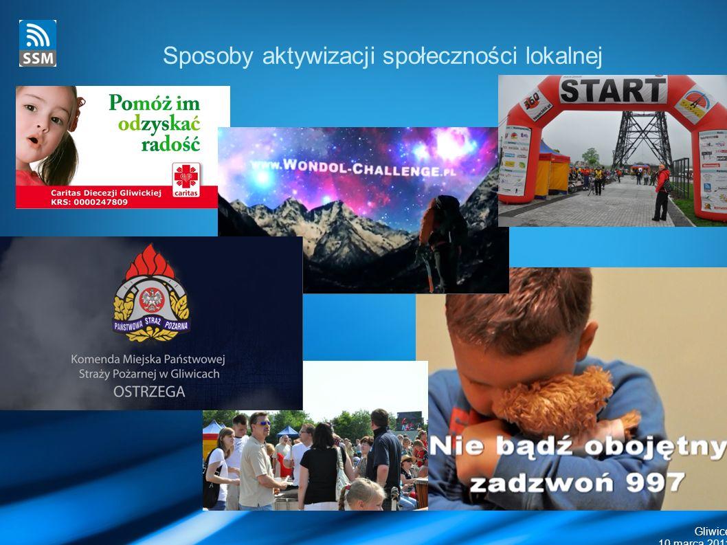 Gliwice 10 marca 2011 Sposoby aktywizacji społeczności lokalnej