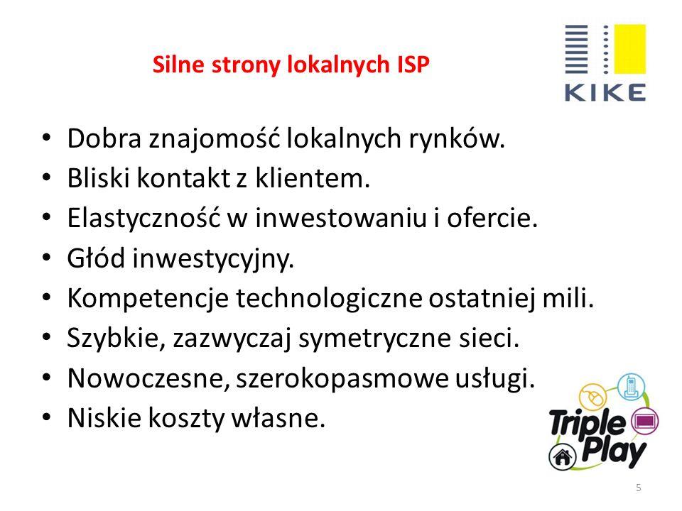Słabe strony lokalnych ISP 6 Skromne zasoby biurowe.