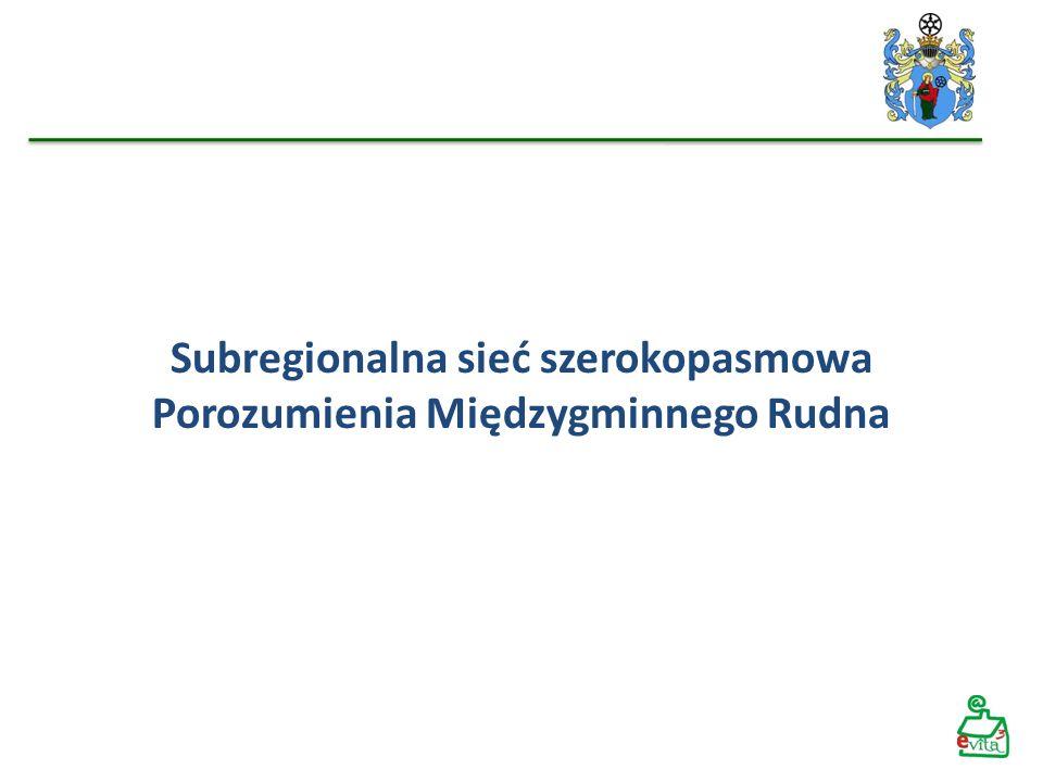 Subregionalna sieć szerokopasmowa Porozumienia Międzygminnego Rudna