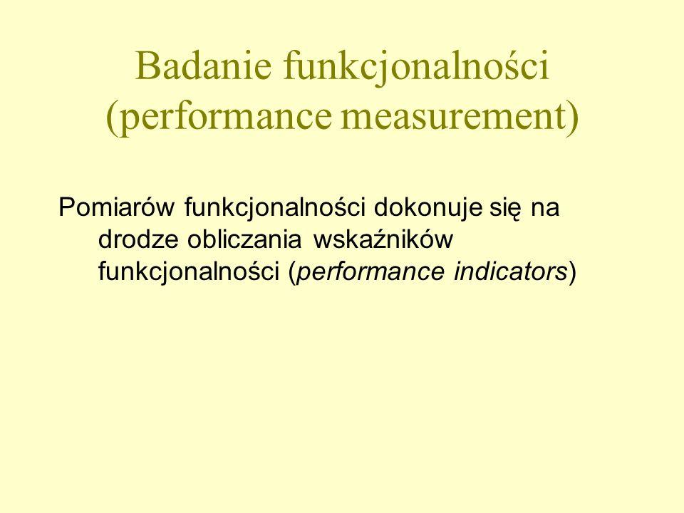 Cele oceny funkcjonalności bibliotek : Ocena jakości procesów i usług Monitoring postępów Informacja dla zarządzających i użytkowników Narzędzie do badań porównawczych (benchmarking) Narzędzie do negocjacji w sprawie funduszy Promocja działalności biblioteki