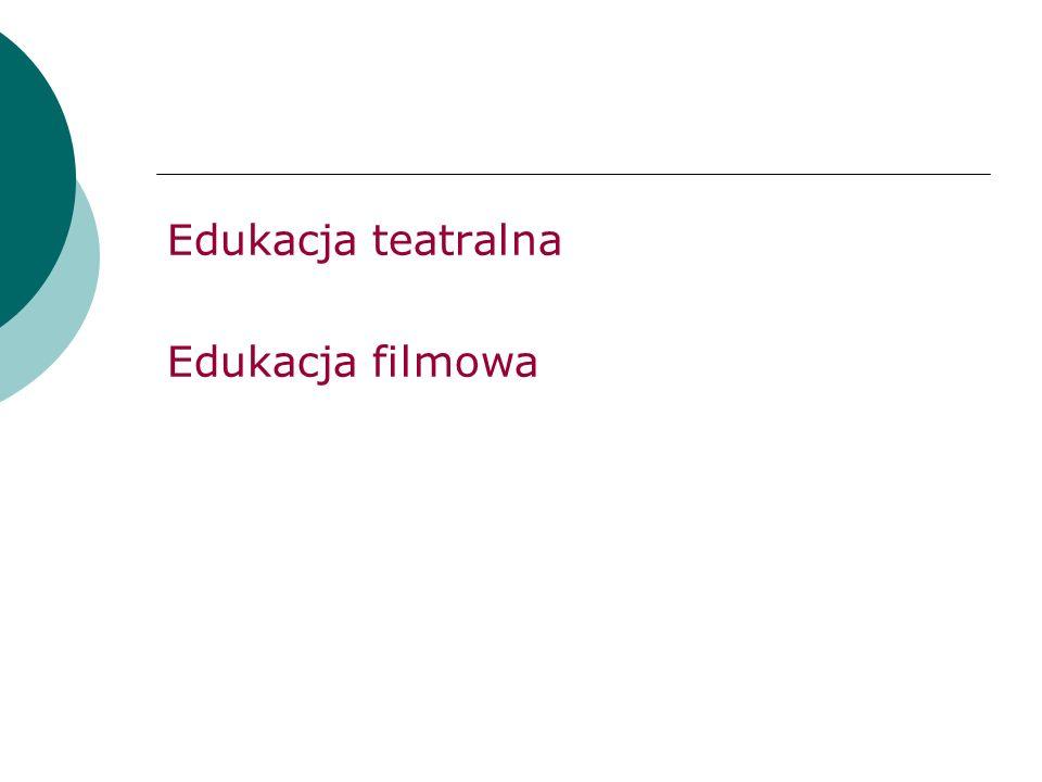 Edukacja teatralna Edukacja filmowa