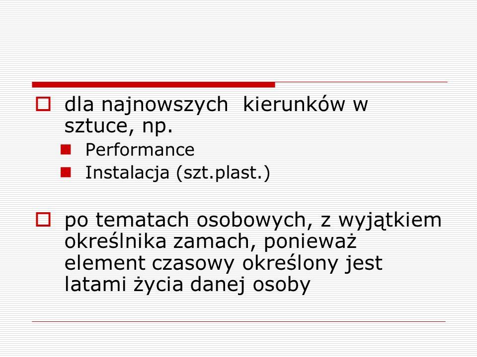Określniki chronologiczne po nazwach województw utworzonych po 1999 r.