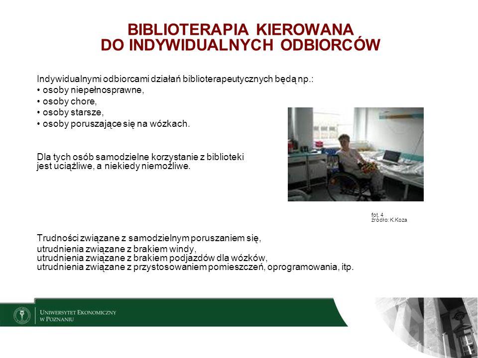 13 CELE PROGRAMÓW BIBLIOTERAPEUTYCZNYCH Każdy przygotowany program biblioterapeutyczny zawiera określone cele, które są uzależnione od rodzaju problemu, na jaki ma biblioterapeuta oddziaływać.