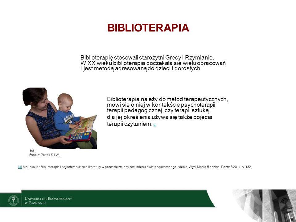 5 PODZIAŁ BIBLIOTERAPII WG R.J.RUBIN [5] [5] [5] Tomasik: Czytelnictwo i biblioterapia w pedagogice specjalnej Warszawa 1994 r., s.13,[5] BIBLIOTERAPIA WYCHOWAWCZA (ROZWOJOWA) KLINICZNA INSTYTUCJONALNA