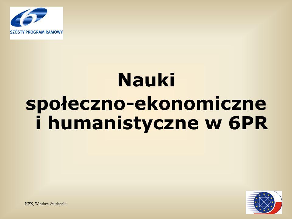KPK, Wiesław Studencki Nauki społeczno-ekonomiczne i humanistyczne w 6PR