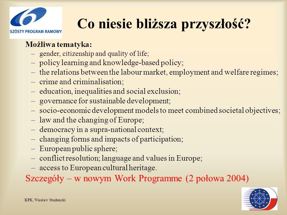 KPK, Wiesław Studencki Co niesie bliższa przyszłość.