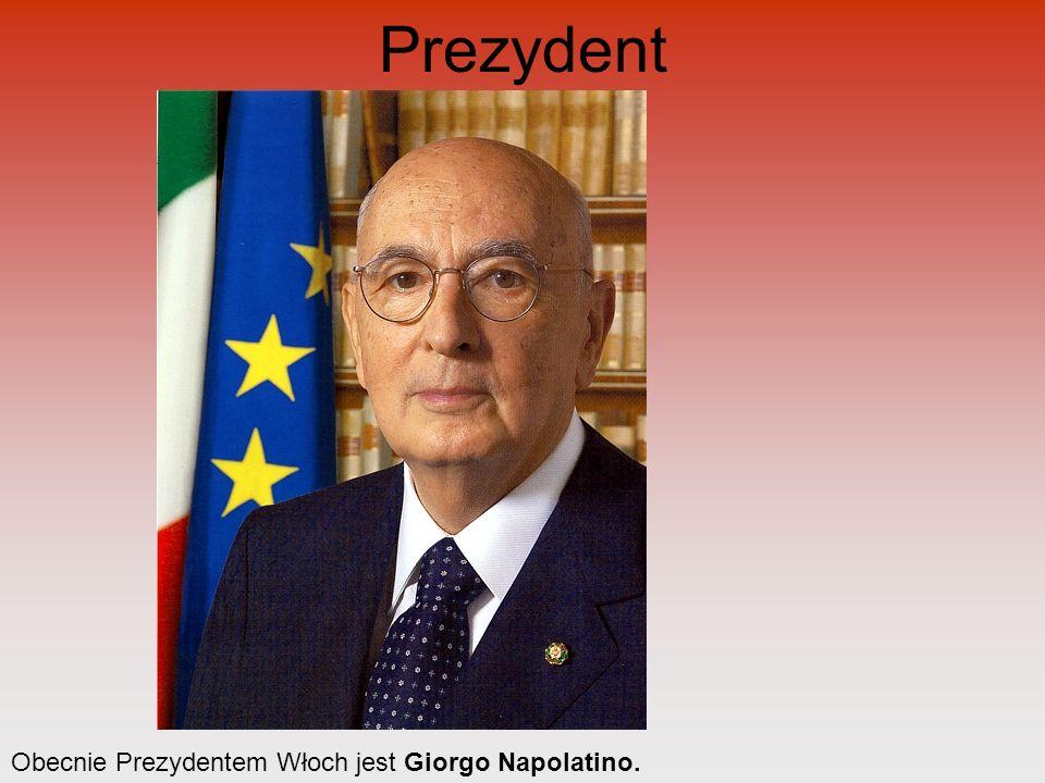 Prezydent Obecnie Prezydentem Włoch jest Giorgo Napolatino.