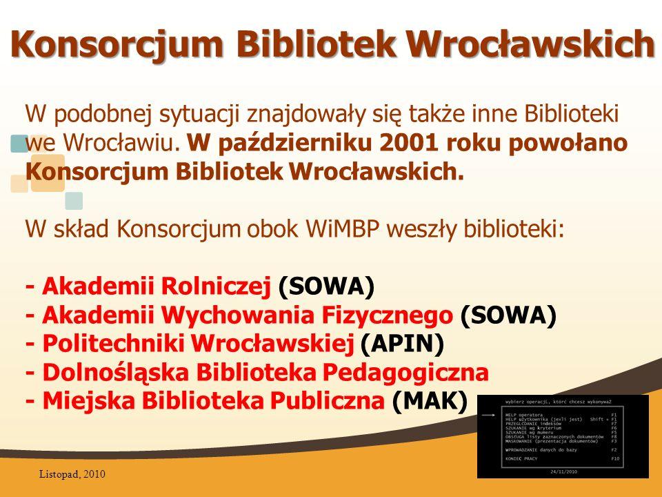 Programy biblioteczne na Dolnym Śląsku 2004 Listopad, 20105
