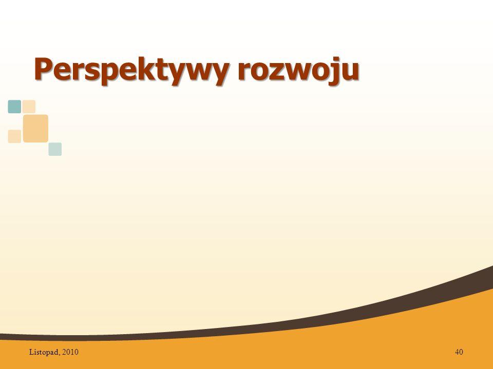 Perspektywy rozwoju Listopad, 201040