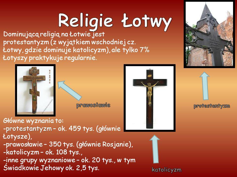 Dominującą religią na Łotwie jest protestantyzm (z wyjątkiem wschodniej cz.