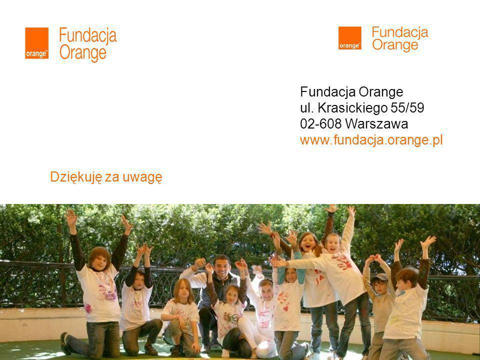 11 Dziękuję za uwagę Fundacja Orange ul. Krasickiego 55/59 02-608 Warszawa www.fundacja.orange.pl