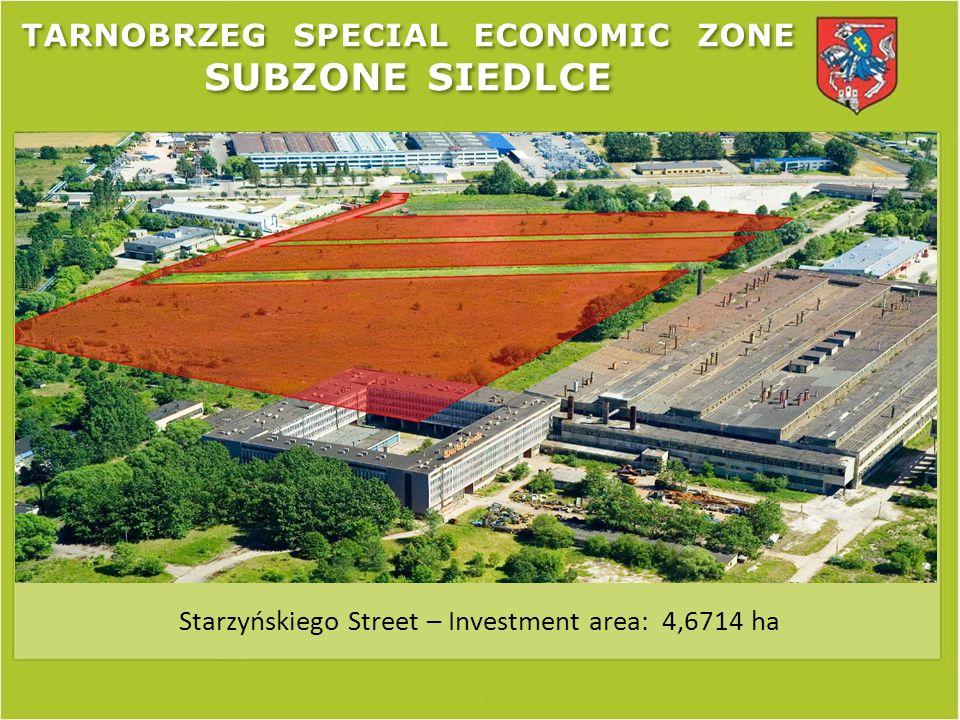 Starzyńskiego Street – Investment area: 4,6714 ha