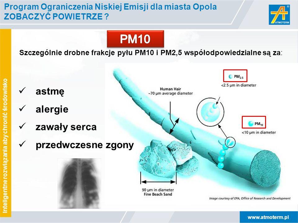 www.atmoterm.pl Inteligentne rozwiązania aby chronić środowisko Program Ograniczenia Niskiej Emisji dla miasta Opola ZOBACZYĆ POWIETRZE ? Szczególnie