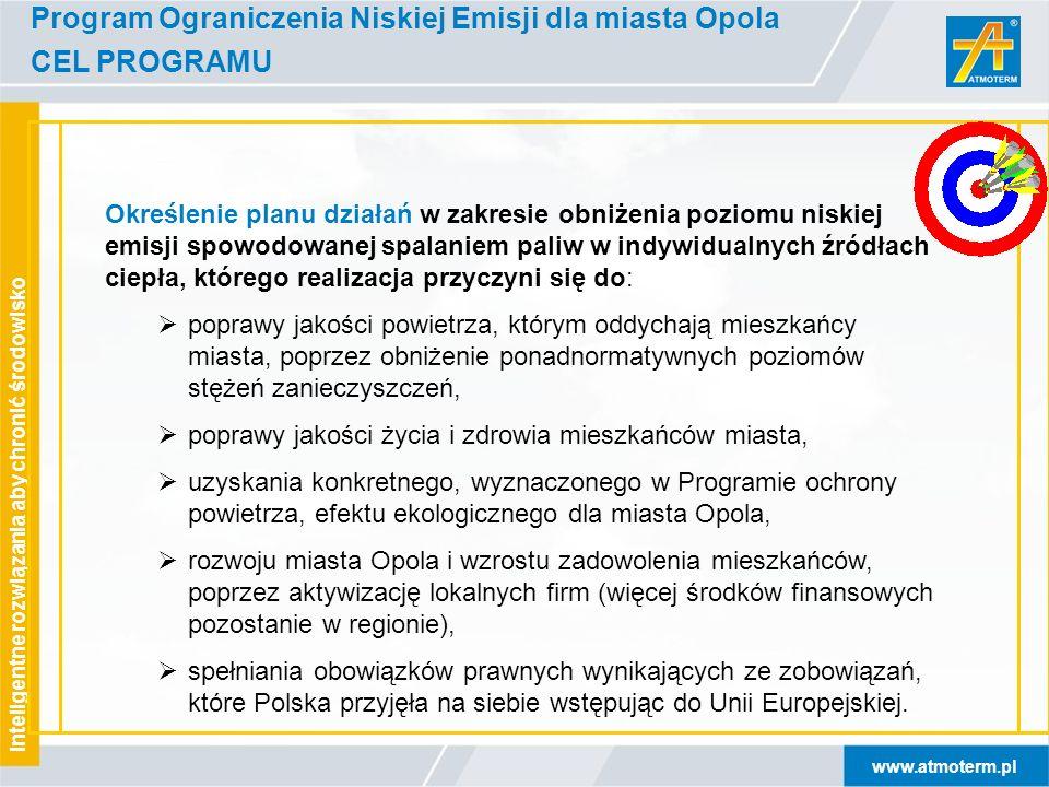 www.atmoterm.pl Inteligentne rozwiązania aby chronić środowisko Program Ograniczenia Niskiej Emisji dla miasta Opola Określenie planu działań w zakres