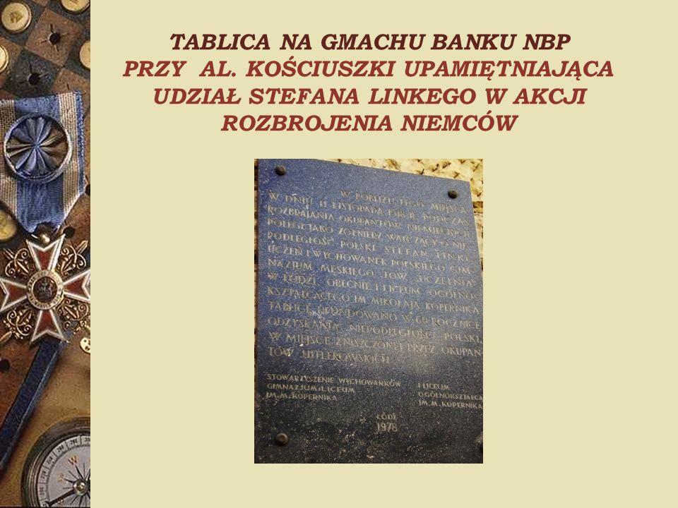 TABLICA NA GMACHU BANKU NBP PRZY AL.
