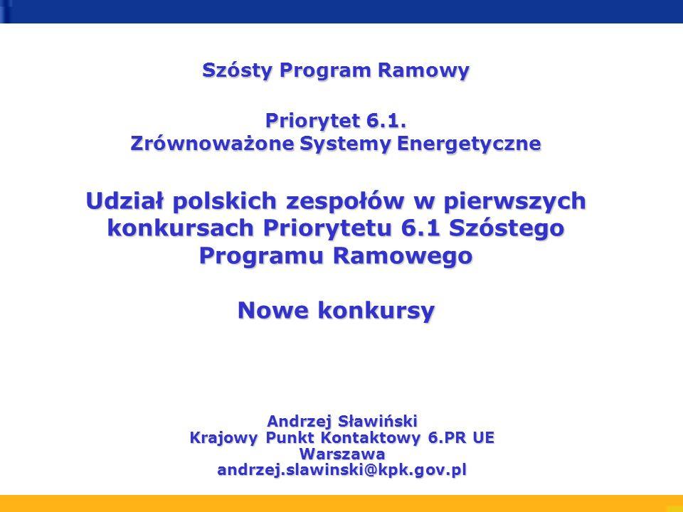 Szósty Program Ramowy Priorytet 6.1.