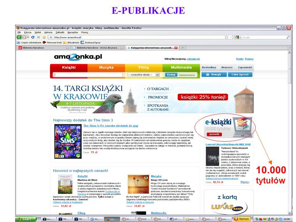 E-PUBLIKACJE 10.000 tytułów