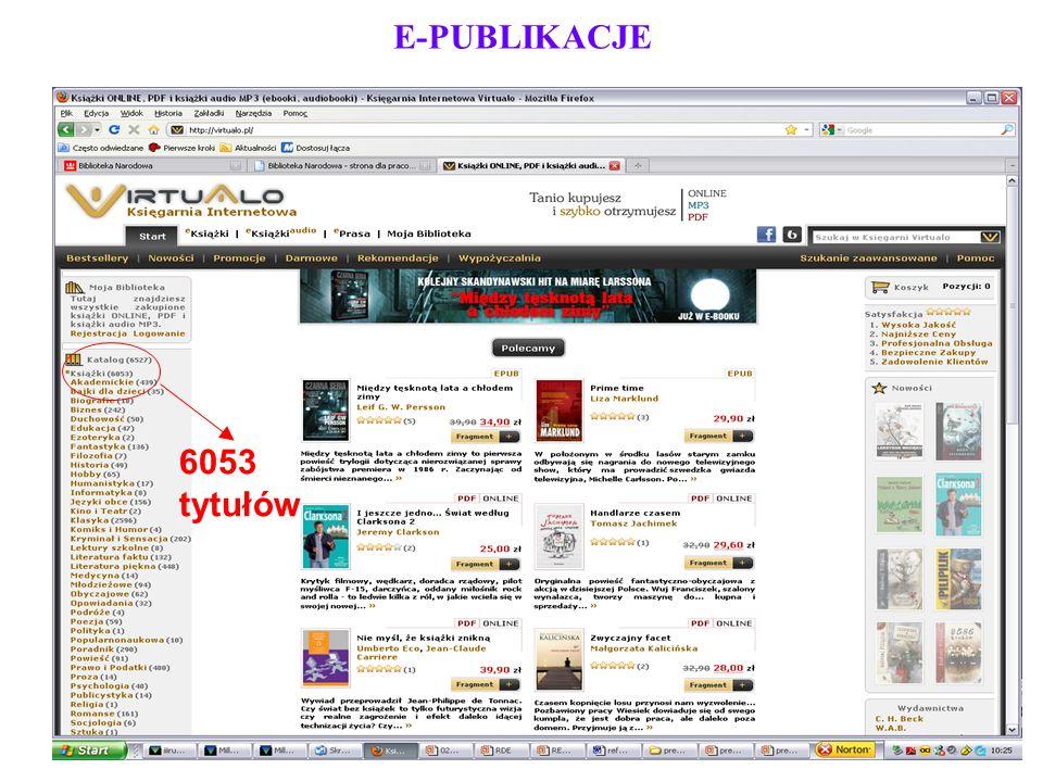 E-PUBLIKACJE 6053 tytułów