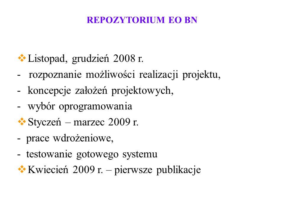REPOZYTORIUM EO BN Listopad, grudzień 2008 r.