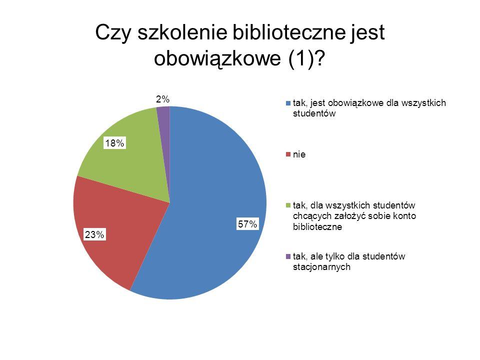 Czy szkolenie biblioteczne jest obowiązkowe (2)?