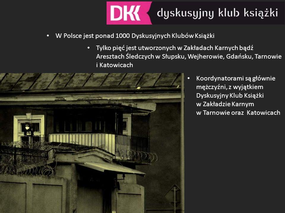 W Polsce jest ponad 1000 Dyskusyjnych Klubów Książki Tylko pięć jest utworzonych w Zakładach Karnych bądź Aresztach Śledczych w Słupsku, Wejherowie, G