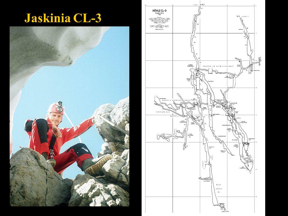 Jaskinia CL-3 Przekrój W-E
