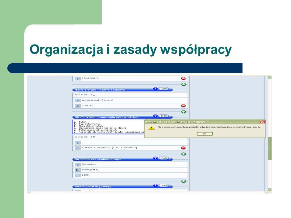 Organizacja i zasady współpracy