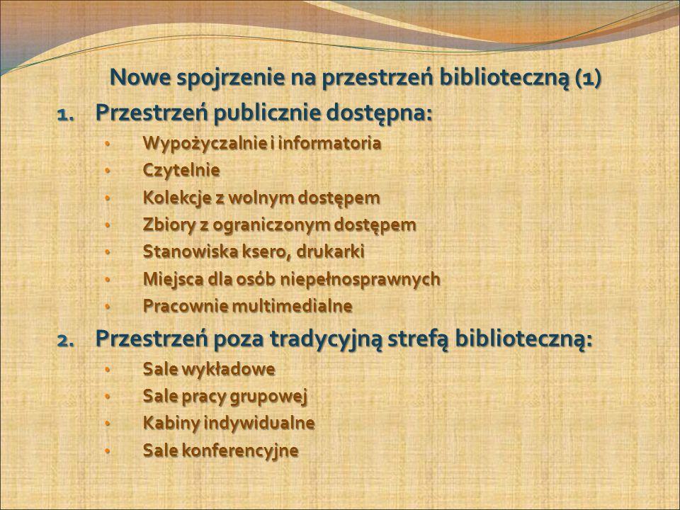 Nowe spojrzenie na przestrzeń biblioteczną (1) 1.