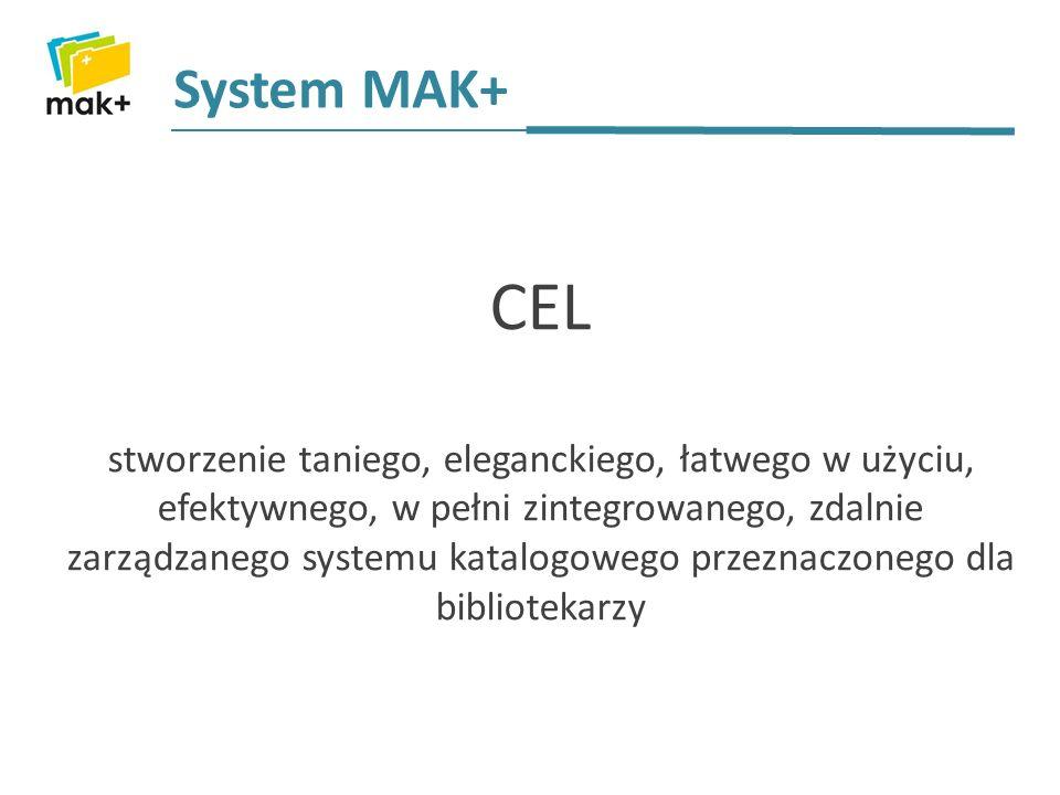 Serwer centralny Serwer w bibliotece gminnej/miejskiej Czytelnik System MAK+