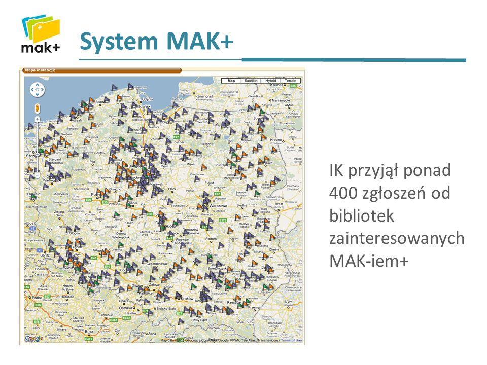 Instytut Książki, we współpracy z WBP, zorganizował ogólnopolską sieć administratorów/wdrożeniowców MAK-a+