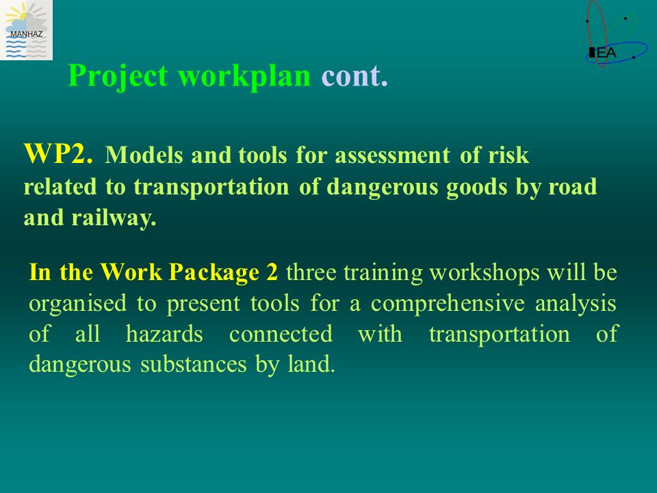 Project workplan cont. WP2.