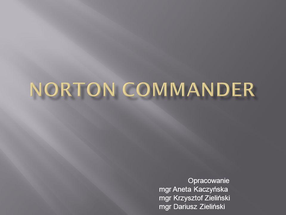 Norton Commander – menedżer plików, program do zarządzania plikami i katalogami w systemie DOS i Windows.
