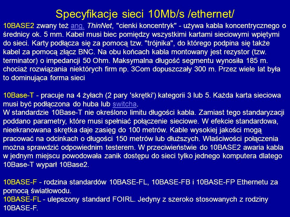 10BASE2 zwany też ang. ThinNet,