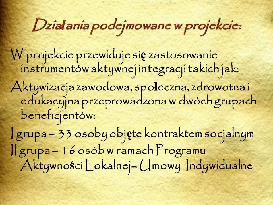 1.Aktywna Integracja Instrumenty aktywnej integracji b ę d ą odbywa ł y si ę etapowo: I.