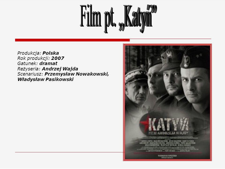 Produkcja: Polska Rok produkcji: 2007 Gatunek: dramat Reżyseria: Andrzej Wajda Scenariusz: Przemysław Nowakowski, Władysław Pasikowski