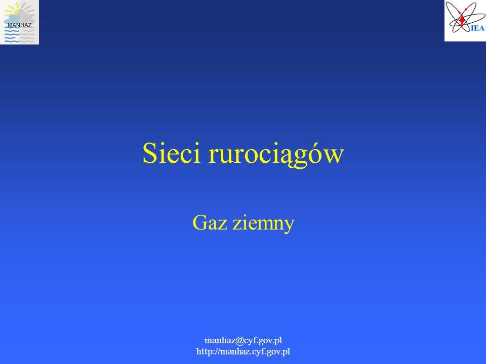 manhaz@cyf.gov.pl http://manhaz.cyf.gov.pl Sieci rurociągów Gaz ziemny