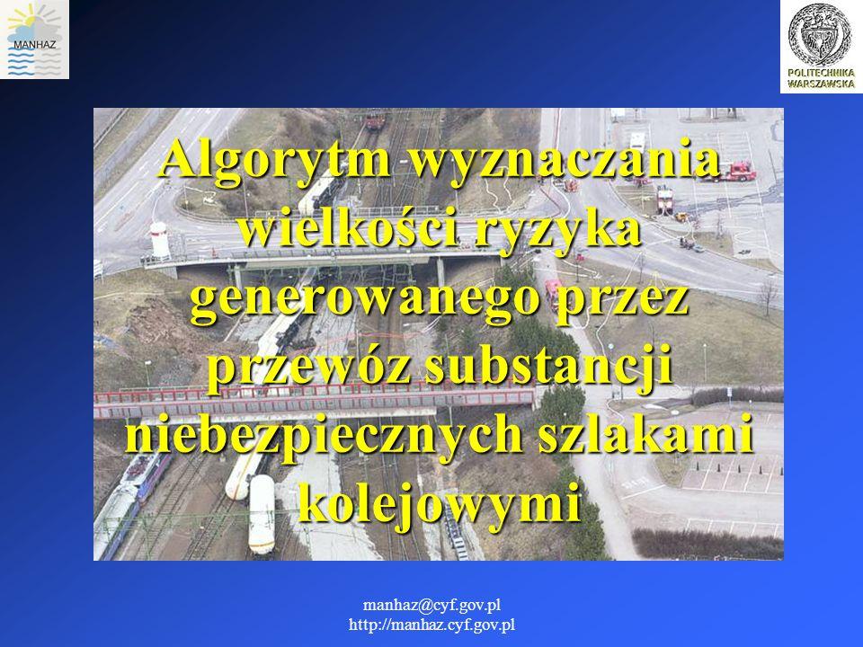 manhaz@cyf.gov.pl http://manhaz.cyf.gov.pl Algorytm wyznaczania wielkości ryzyka generowanego przez przewóz substancji niebezpiecznych szlakami kolejo