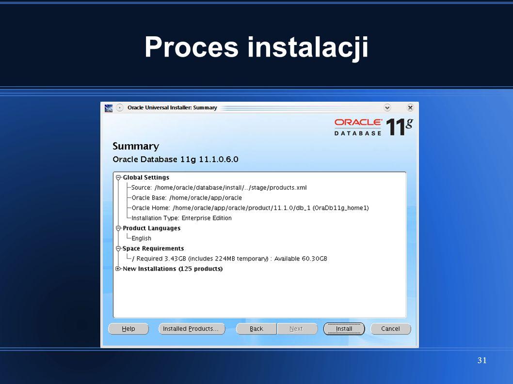 31 Proces instalacji