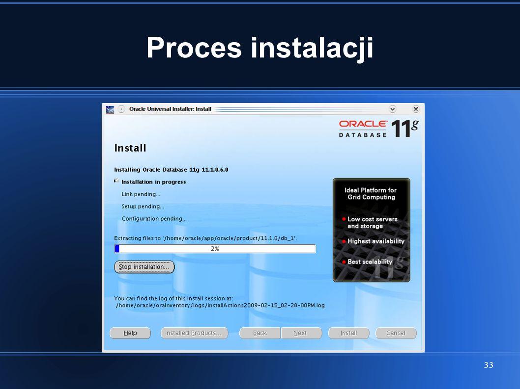 33 Proces instalacji